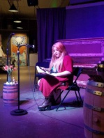 Estefania Munoz reading at Don't Yell at Me, Longmont CO